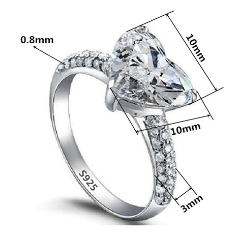 s925 sterling silver jewelry ring cz wedding