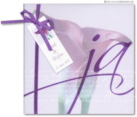 Hochzeitseinladung Calla by Einladungskarte Zur Hochzeit Mit Calla Motiv