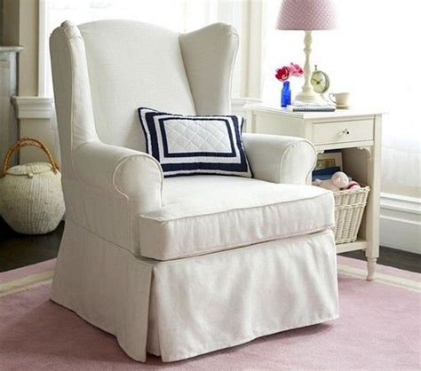 slipcovered wingback chair wingback rocking chair slipcovers sure fit pen pal by