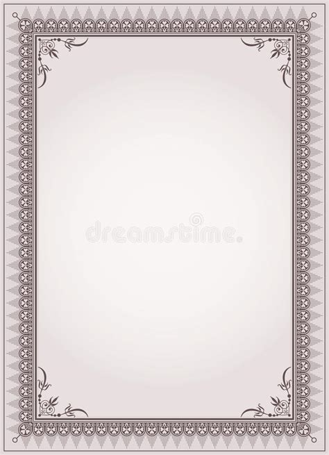 ornate certificate template vector free vector 4vector decorative border frame certificate template vector stock