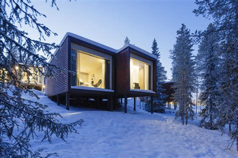 house inn suites arctic treehouse hotel studio puisto archdaily