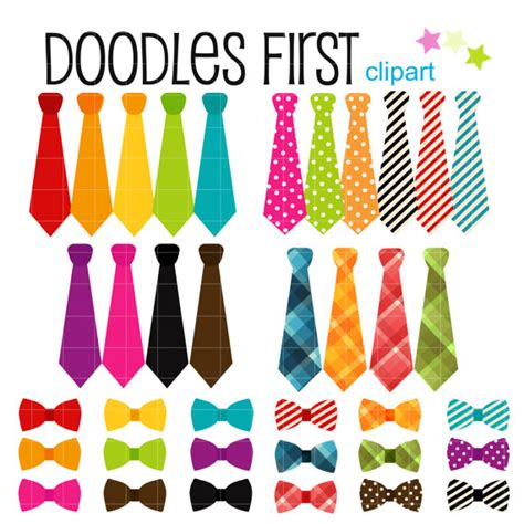 colorful bows colorful bows and ties collection digital clip for