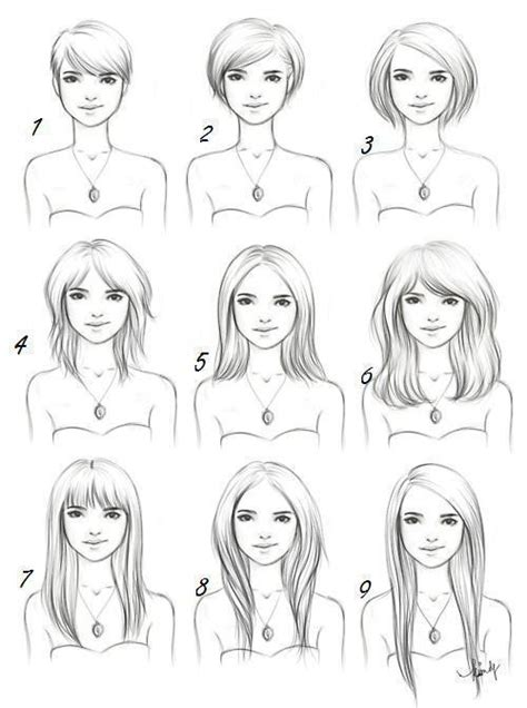 drawing of bob hair bangs bob boy cut cute diagram image 352485 on