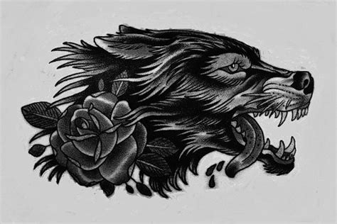 traditional wolf tattoo designs traditional new school wolf with design