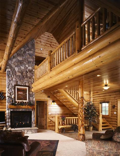 photos of a modern log cabin golden eagle log homes