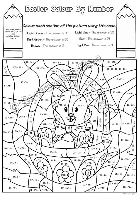 easter coloring pages color by number colour by number easter eastercolor by number colouring