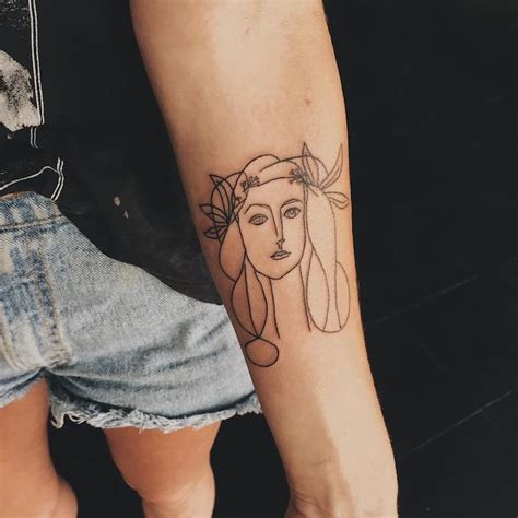 picasso tattoos 29 museum worthy tattoos inspired by history