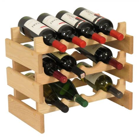 Wine Rack 12 Bottles by 12 Bottle Wine Rack Oak In Wine Racks