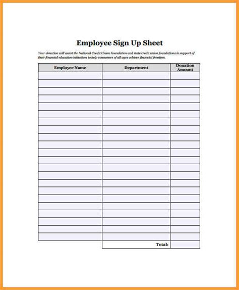 employee sign in sheet letter format mail