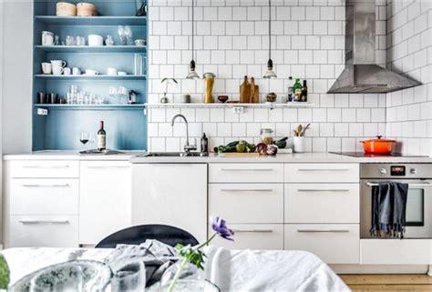 cuisine blanche et bleu dix d 233 co scandinaves pour vous inspirer