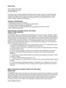 Acquisition Manager Sle Resume by Talent Resume Resume Format Pdf