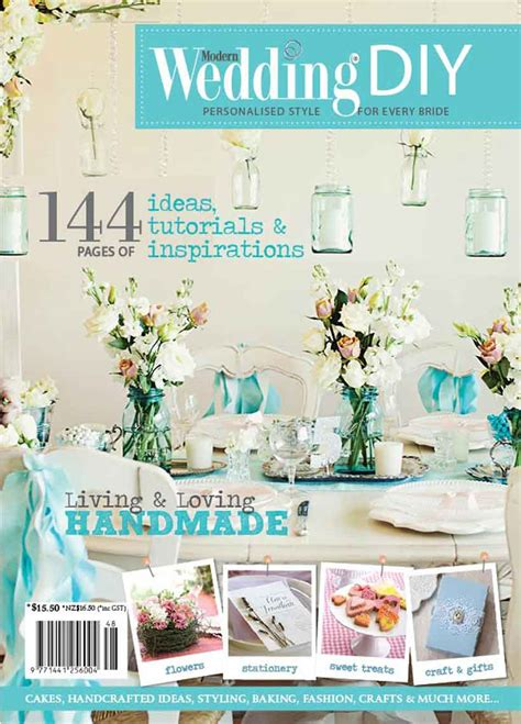 Handmade Wedding Magazine - modern wedding diy magazine out now modern wedding