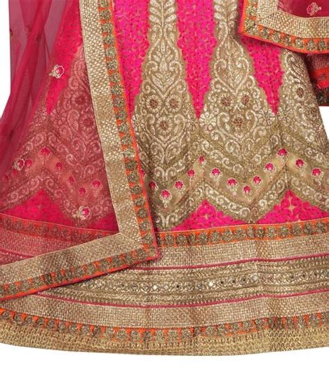 embroidery unstitched design buy cream net embroidered unstitched lehenga choli online