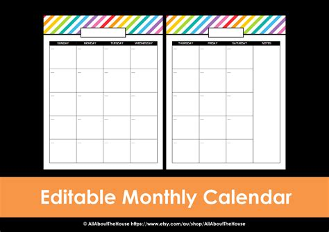 weekly planner printable editable shopping list calendar new calendar template site