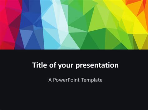 modern polygons powerpoint template presentationgo com