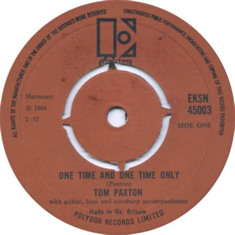 One Time Search One Time And One Time Only Tom Paxton At Search Vinyl Records On Elektra Eksn45003