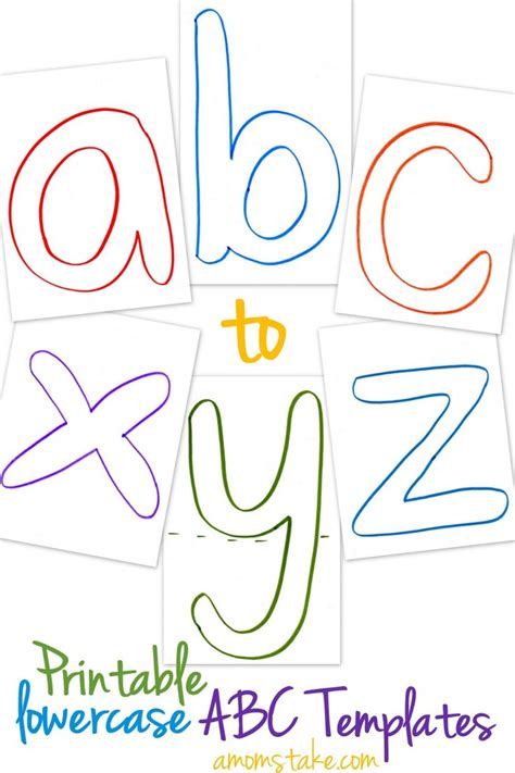 abc template lowercase abc templates free printable templates