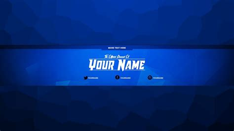 youtube channel art template free youtube