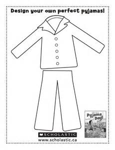 Pajama Template by Pajamas Coloring Page Coloring Home