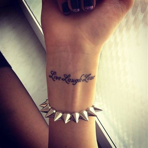 live laugh love wrist tattoo 16 adorable live laugh wrist tattoos