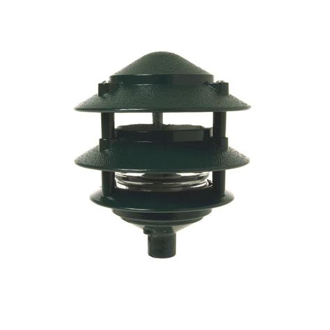 3 tier landscape lighting bell weatherproof 3 tier garden light 5884 8 the home depot