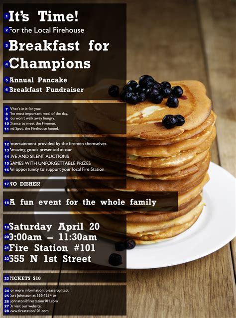 Pancake Breakfast Flyer Ticket Printing Pancake Fundraiser Flyer Template