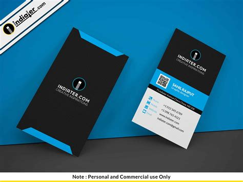 Vertical Business Card Template Psd by Indiater Stylish Creative Vertical Business Card Psd