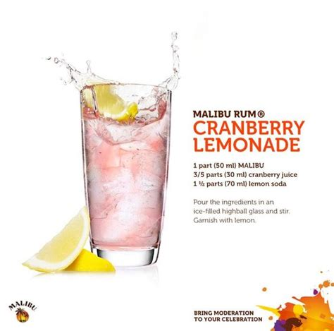 cranberry and malibu rum the world s catalog of ideas