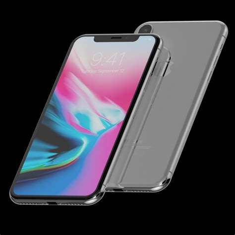 apple iphone  silver  space gray official  model cgstudio
