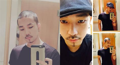 asian male pubic hair mblaq s g o shaves his head and goes bald for the summer