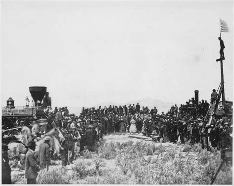 the sections of the transcontinental railroad join in file joining the tracks for the first transcontinental