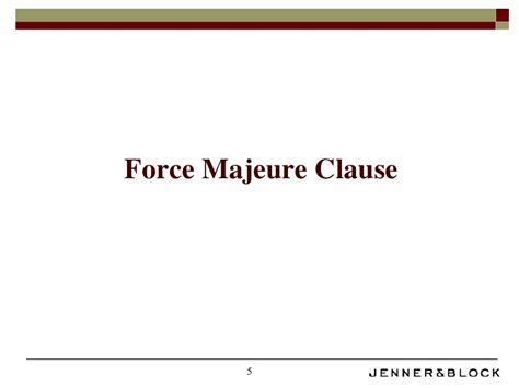 force majeure commecial impracticability