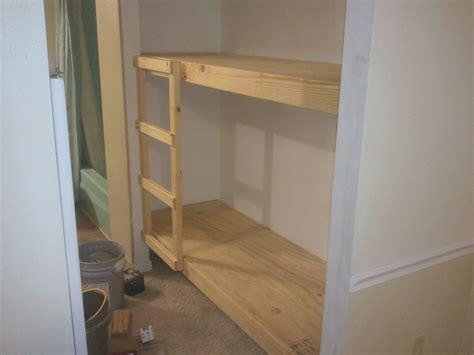 built in bunk bed built in bunk bed and bunk beds jays custom creations