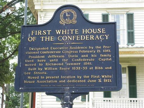 confederate white house first confederate white house on this very spot