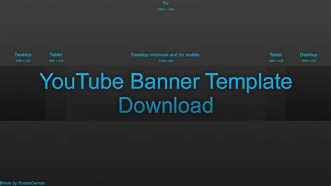 layout youtube banner 2016 what is a youtube banner template