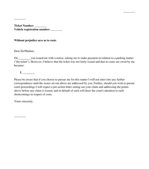 Appeal Letter For Parking Offence Exle 20 new letter template unfair parking ticket images