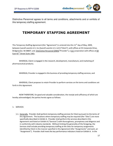 staffing contract template sle jc noguera