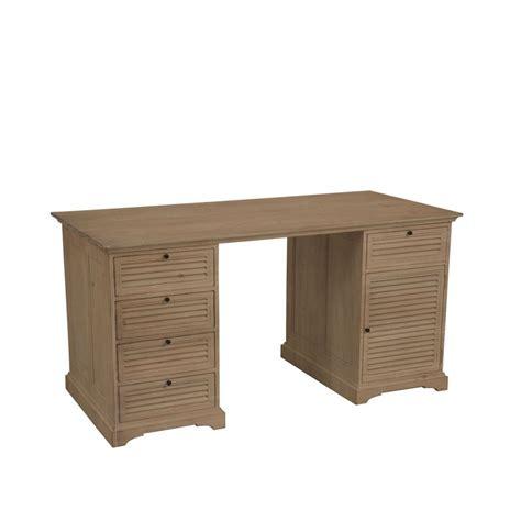bureau tiroirs bureau 5 tiroirs 1 porte naturel interior s