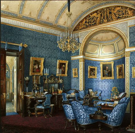 Blue Drawing Room the of russian painting edward petrovich hau