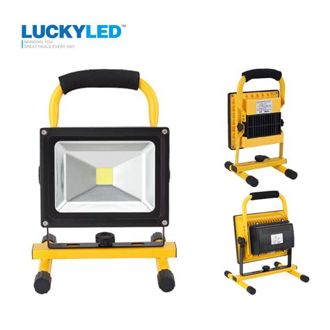 10w rechargeable flood light luckyled portable rechargeable led flood light 10w 20w