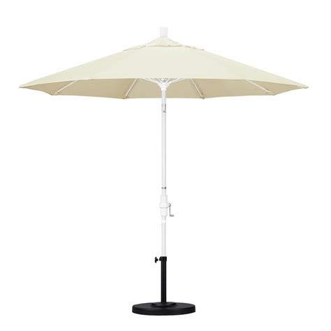 Canvas Patio Umbrella California Umbrella 9 Ft Fiberglass Collar Tilt Patio Umbrella In Canvas Pacifica Gscuf908170