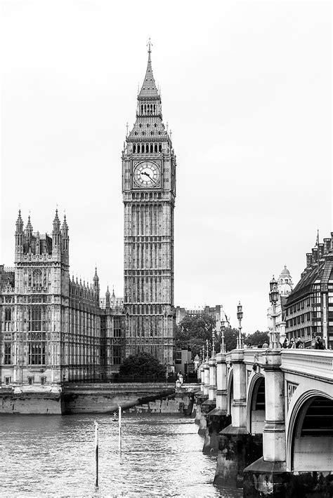 imagenes en blanco y negro verticales cuadro torre del reloj big ben londres n 186 13