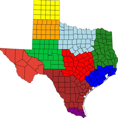 texas map with regions file regions of texas svg