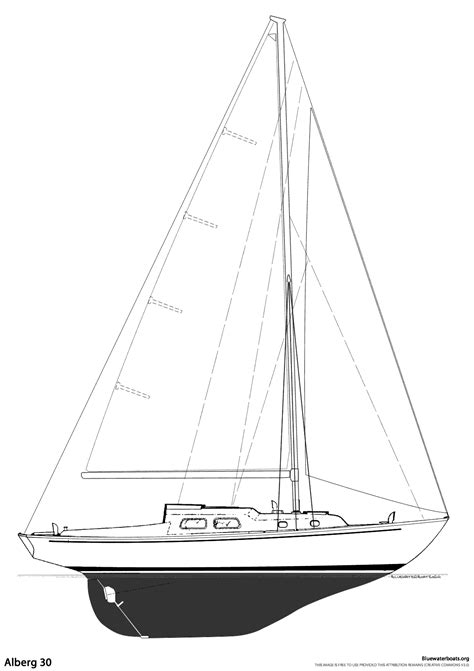Overview Sketch Book At the alberg 30 sailboat bluewaterboats org