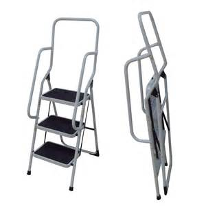 2 step ladder with handrail foldable non slip 3 step steel ladder tread stepladder