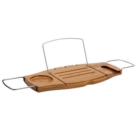 umbra aquala bamboo and chrome bathtub caddy umbra aquala expandable bamboo bathtub caddy natural