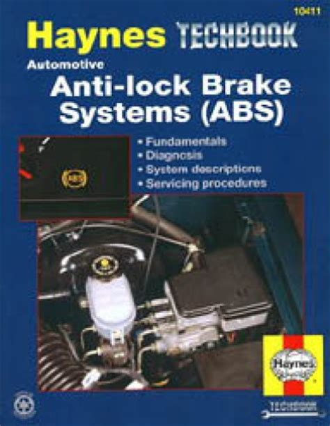 haynes automotive anti lock brake systems abs manual
