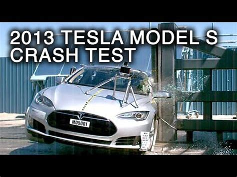 Tesla Model S Rollover Test 2013 Tesla Model S Pole Crash Test By Nhtsa Crashnet1