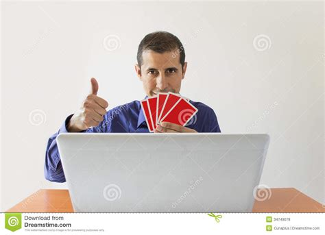 Winning Money Online Poker - winning at online poker royalty free stock photos image 34749078