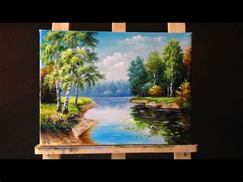 acrylic painting tutorial landscapes how to paint riverbank with acrylics lesson 3